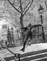 Washington Square Park Skateboarder Launch May 2013