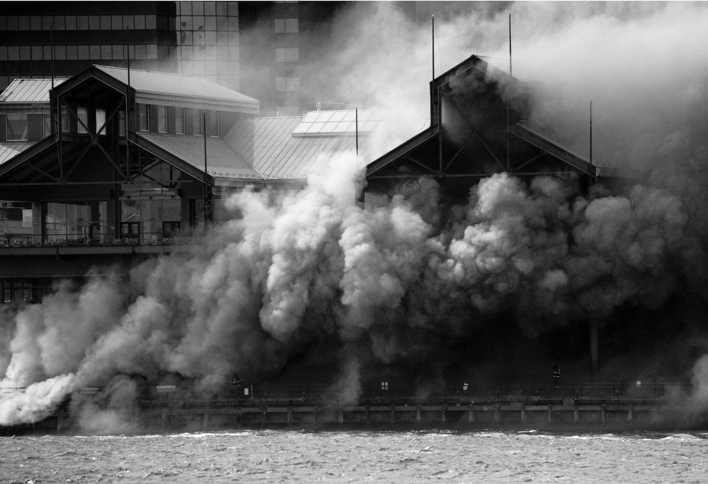 Pier 17 Fire.  South Street Seaport 2012